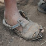 worn-out shoe
