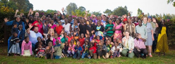 The HBC mission team posing with all the Ark Home and Macecall Children.