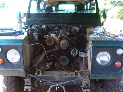 gutted Land Rover